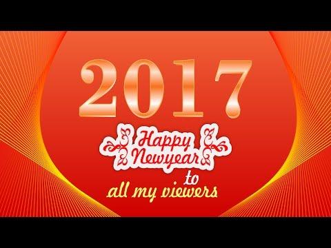 Happy New Year Banner Design I 2017 Banner Design I CorelDraw in Hindi