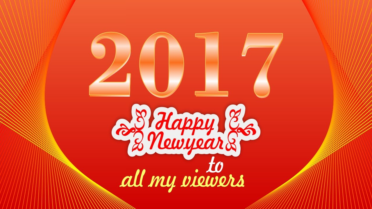 happy new year banner design i 2017 banner design i coreldraw in hindi