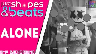 Alone by Marshmello - but the background is Official Music Video | Just Shapes and Beats
