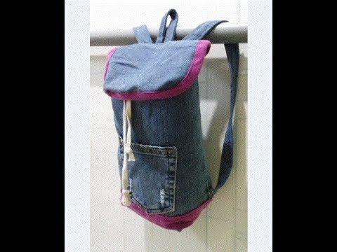 kawaii diy n hen diy turnbeutel rucksack n hen jeans upcycling youtube. Black Bedroom Furniture Sets. Home Design Ideas