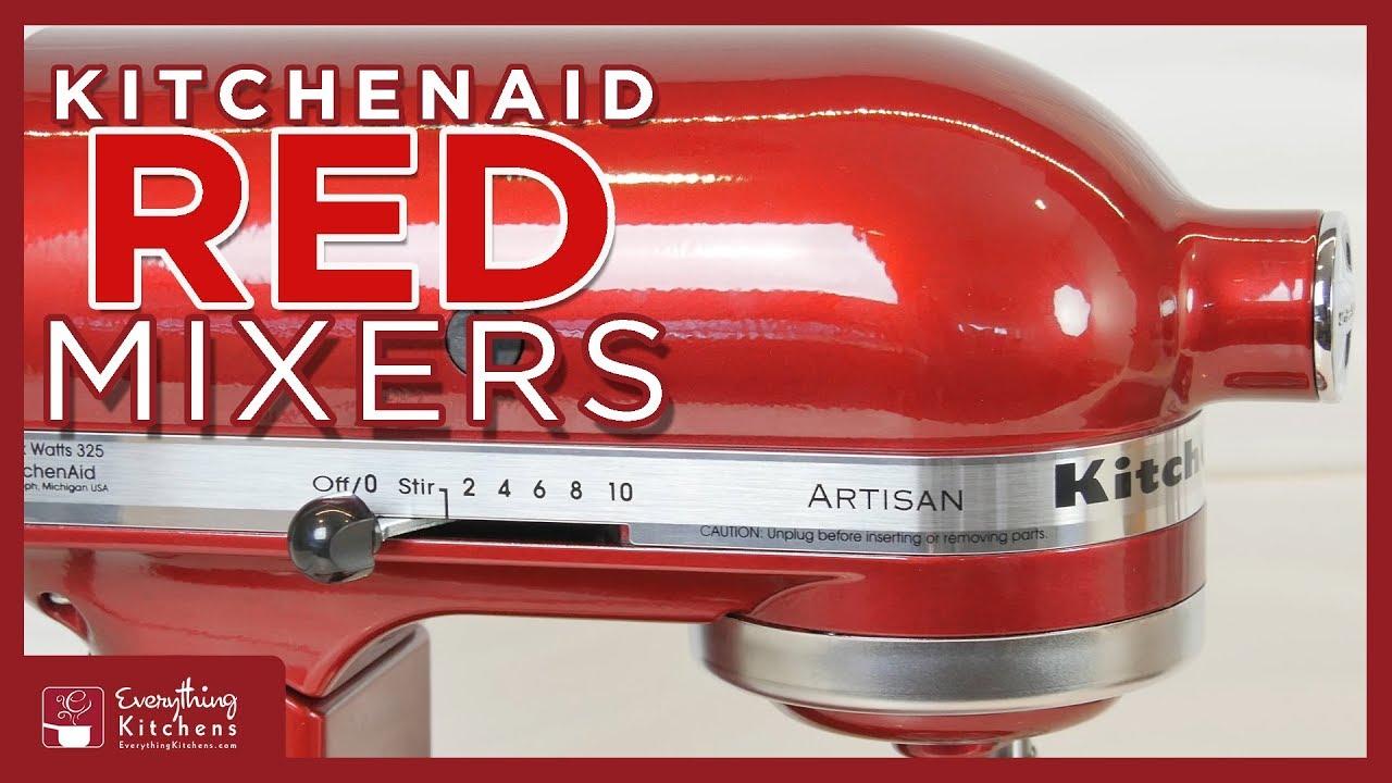 KitchenAid Red Mixer Color Comparison: Empire, Ruby, Cinnamon, Bordeaux,  Boysenberry