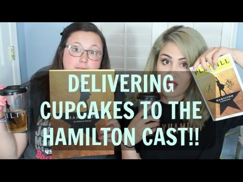 DELIVERING CUPCAKES TO THE HAMILTON CAST!! || Go Cake Yourself