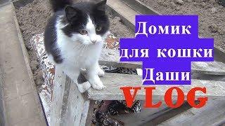 VLOG. Домик для кошки Даши.
