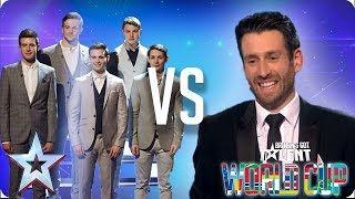 KNOCKOUT MATCH: Collabro vs Jamie Raven | Britain's Got Talent World Cup 2018