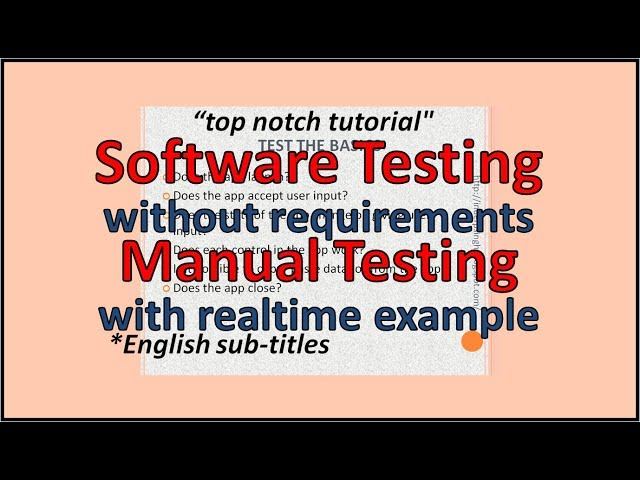 How to Test Software without Requirements - YouTube