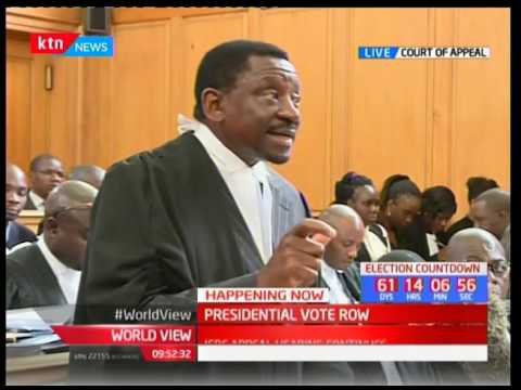 James Orengo- NASA lawyer addressing  the  Court of Appeal over the presidential results row