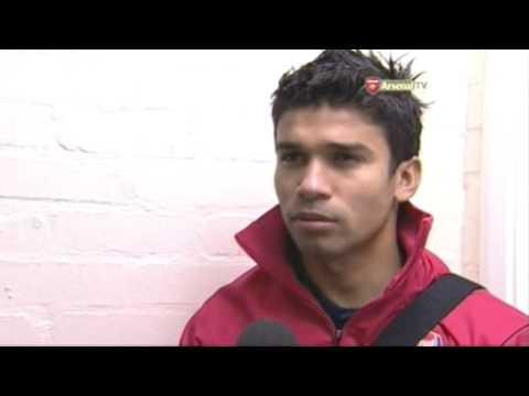 Arsenal Reserves v. Portsmouth Reserves - Eduardo Interview