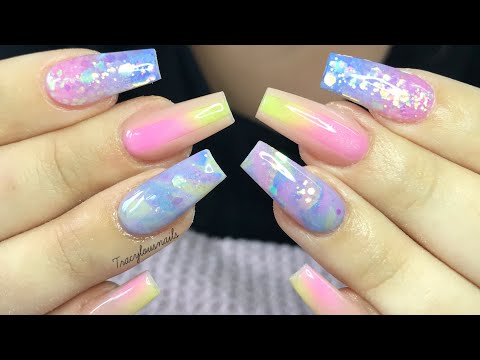 PASTEL ACRYLIC NAILS | NAIL TUTORIAL thumbnail