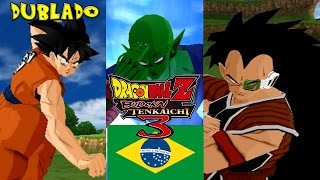 (PT-BR) Goku e Piccolo VS Raditz Dublado - Dragon Ball Z Budokai Tenkaichi 3 Brasil