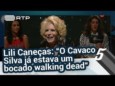"""Lili Caneças: """"O Cavaco Silva já estava um bocado walking dead"""" - 5 Para a Meia-Noite"""