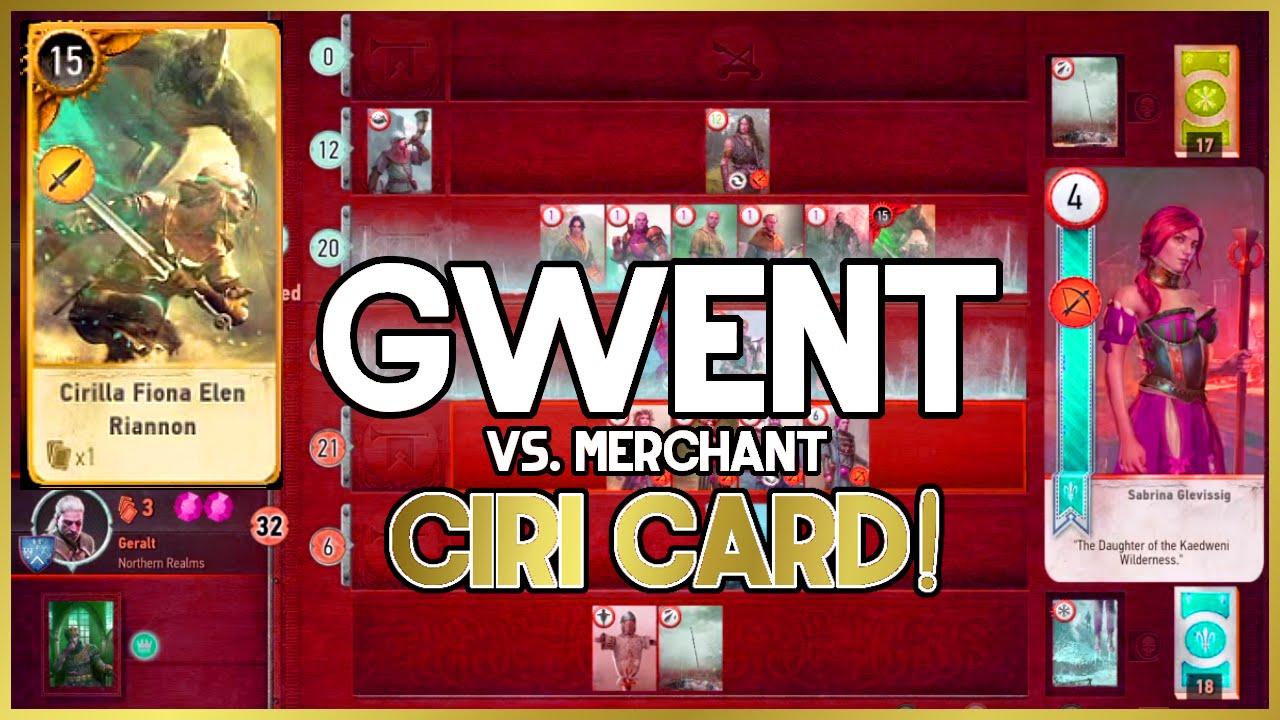 Gwent vs merchant ciri card youtube - Ciri gwent card witcher 3 ...
