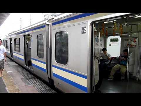 JR中央・総武線三鷹行き 209系500番台ミツ507編成 船橋駅到着 ...