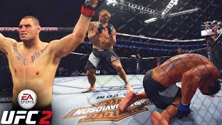 Cain Velasquez Has A POWERFUL HOOK! How Is He Surviving? EA Sports UFC 2 Online Gameplay