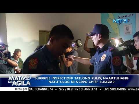 Surprise inspection: Tatlong pulis, naaktuhang natutulog ni NCRPO Chief Eleazar