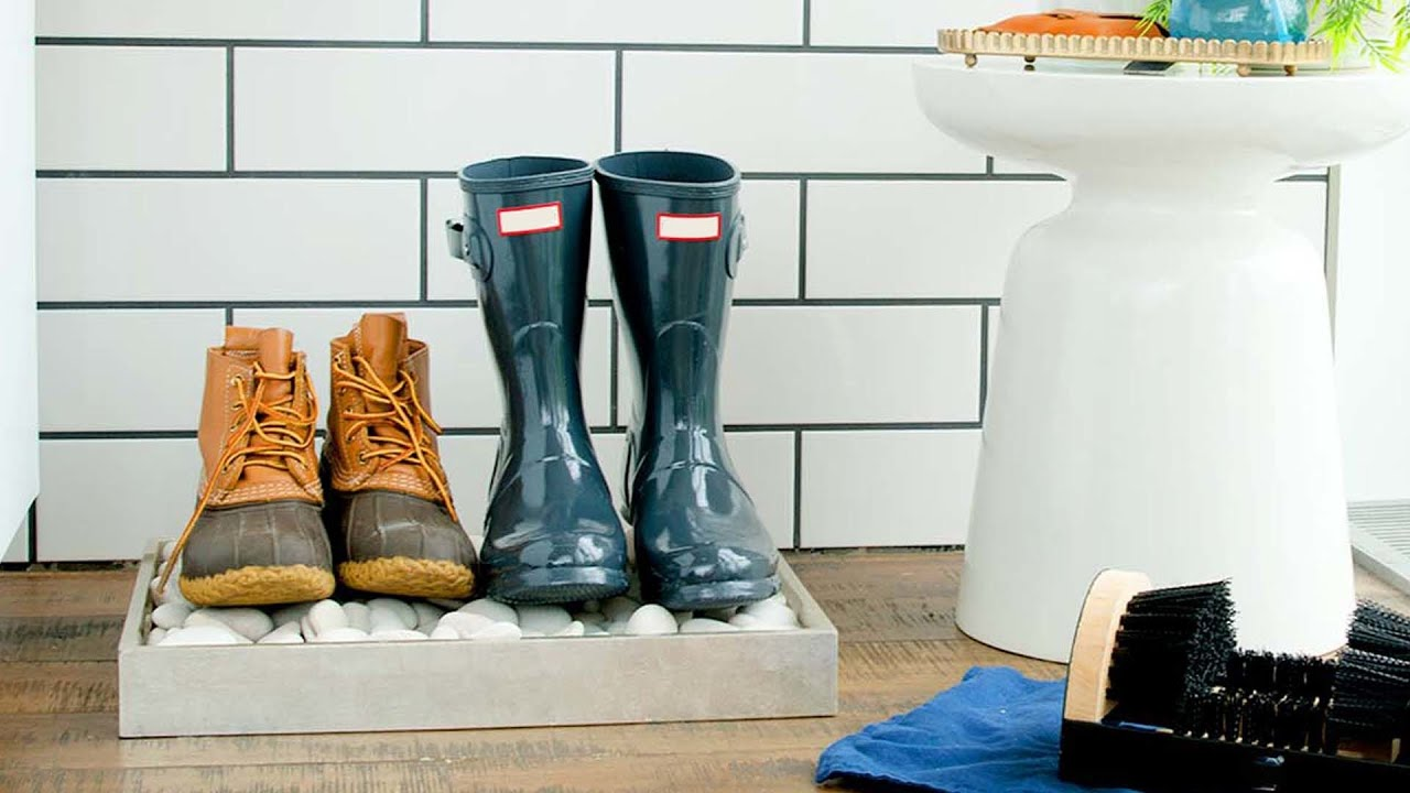 Ultimate Entryway Boot Station