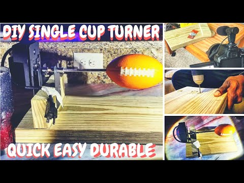 DIY Single Cup Turner || Cup Rotisserie|| How To || For Cheap