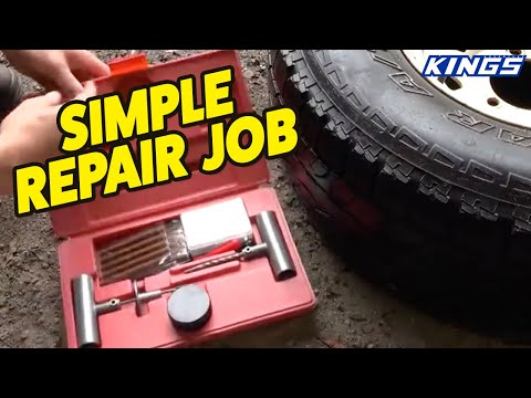 How to plug a tyre with the Hercules Tyre Repair Kit