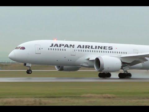 Japan Airlines Boeing 787 Dreamliner Smooth Landing at YVR