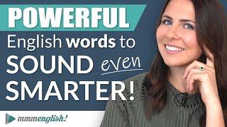 Vocabulario poderoso: Palabras en inglés que suenan inteligentes