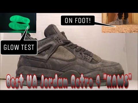 435094b92e8 BEST UA JORDAN RETRO 4 KAWS REVIEW AND ONFEET! FANSKICKS - YouTube