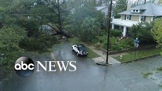 NC city hit hard by Hurricane Florence...