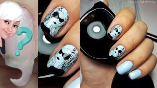 Простой стильный дизайн ногтей Маникюр на коротких ногтях Форма квадрат Стемпинг Слайдер дизайн
