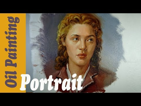 Portrait Painting Girl in oil on canvas