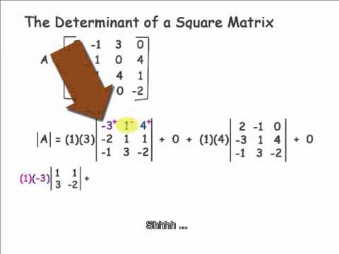determinant of a 4x4 matrix youtube. Black Bedroom Furniture Sets. Home Design Ideas