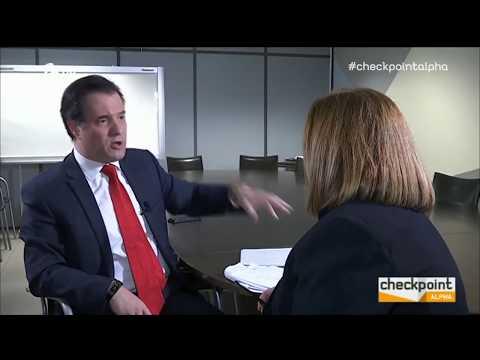 O Άδωνις Γεωργιάδης στο Checkpoint με την Γιάννα Παπαδάκου στον Alpha TV 10/02/2018