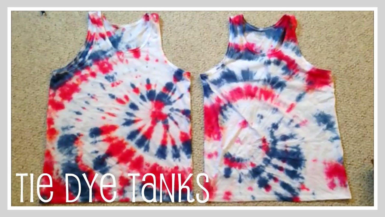 Craft tie dye tanks youtube for How to dye a shirt red