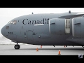 RCAF CC-177 Crosswind Landing & Parked at Quebec City Airport (YQB)