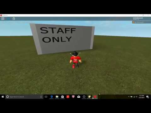 roblox how to make a sliding door