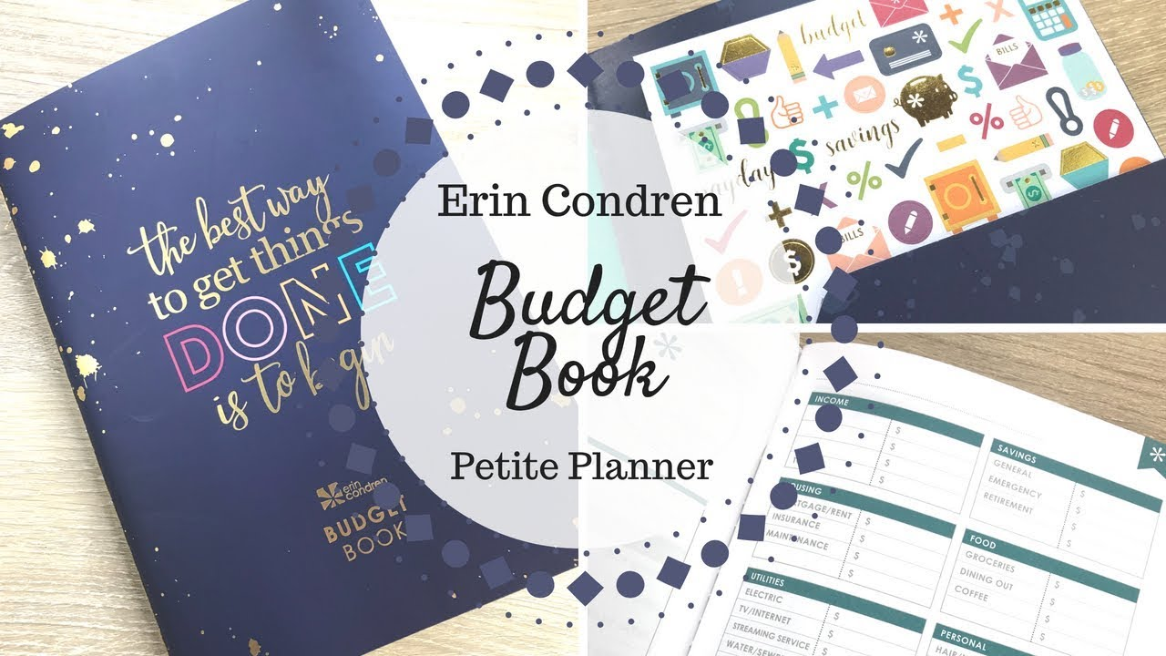 erin condren budget book petite planner walkthrough review