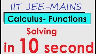 FUNCTION-IIT-JEE Question solution in 10 Seconds  - IIT JEE MAINS Online Crash Course