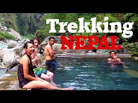 Trekking Nepal: Hiking to Hot Springs on the Annapurna Trek