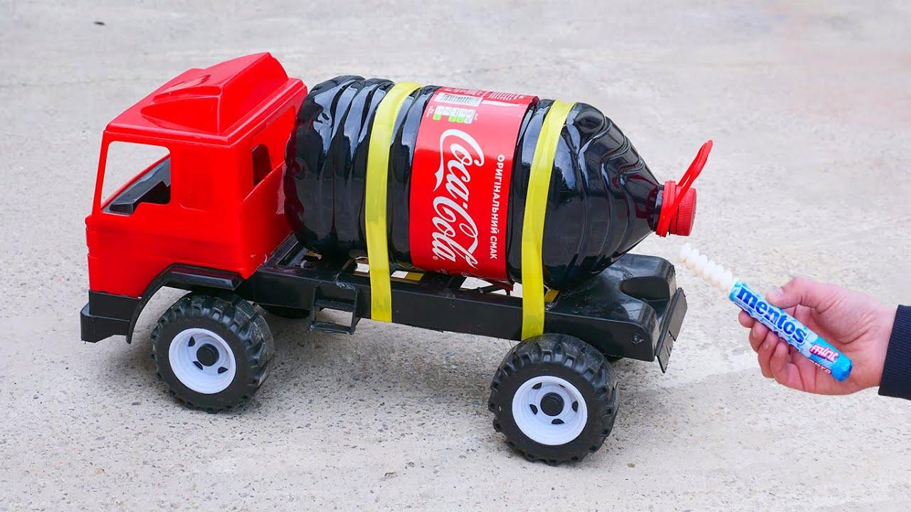 Experiment: XXL Coca-Cola Rocket with Truck