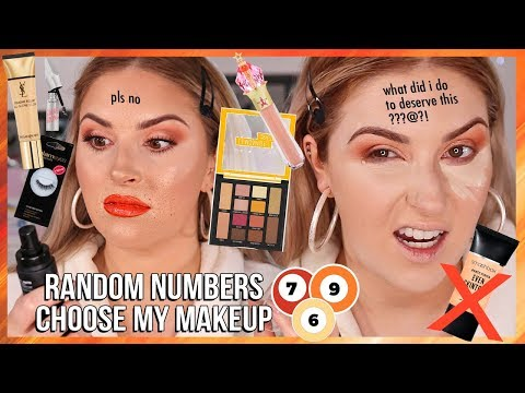 I have bad karma.. 😭 NUMBERS PICK MY MAKEUP CHALLENGE thumbnail