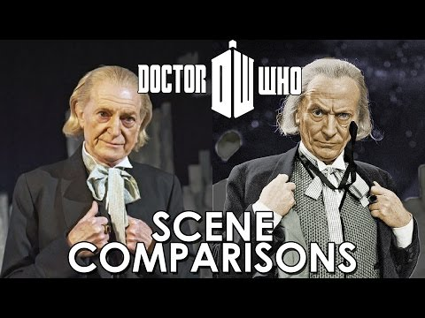 Doctor Who (1963–1989) and An Adventure in Space and Time (2013) - scene comparisons
