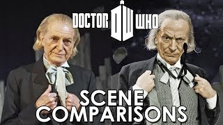 Doctor Who and An Adventure in Space and Time - scenes comparisons