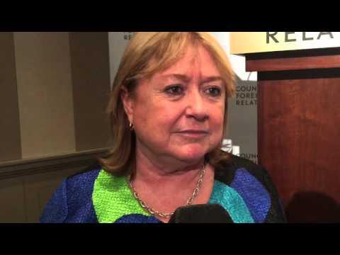 La Canciller Susana Malcorra en el Council on Foreign Relations de Nueva York