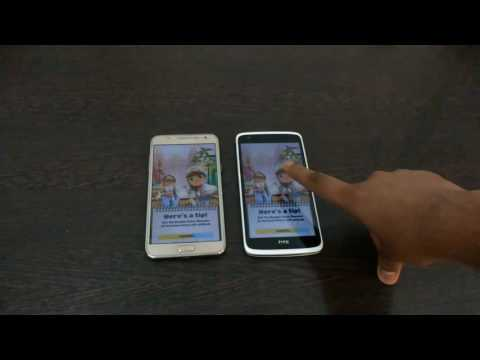 Samsung Galaxh j7 vs HTC Desire 828 speed test.