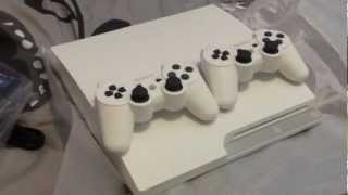 WHITE PS3 Slim 320Gb unboxing (Playstation 3)