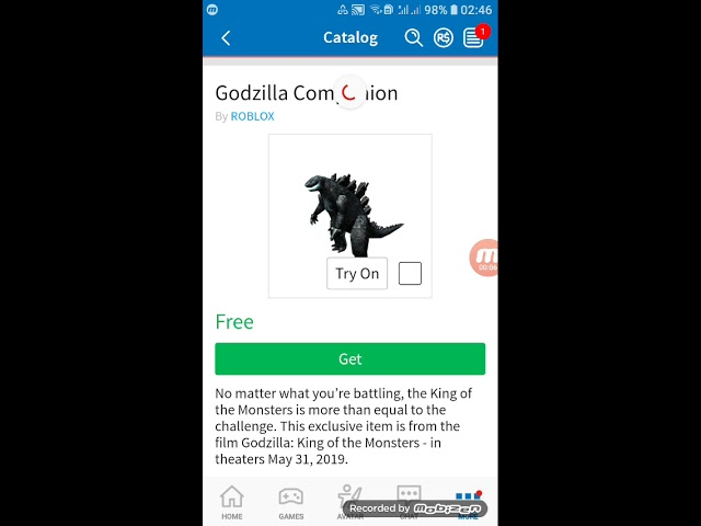 How To Get The Godzilla Companion And The Ghidorah Head Roblox Youtube