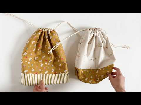Easy Drawstring Bag 2 different ways / No Interfacing String Pouch / 조리개파우치 / Simple Sewing