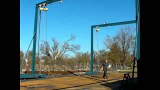 Electric Hoist -  Steel Sailboat Hull - Flip 2