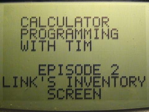 Calculator Programming - Episode 2: Link's Inventory Screen