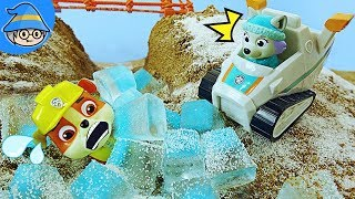 Paw Patrol Everest rescues the Rubble from the snowy mountains.