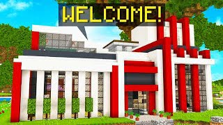 WORLD'S SMARTEST REDSTONE HOUSE! TALKING ROBOT!