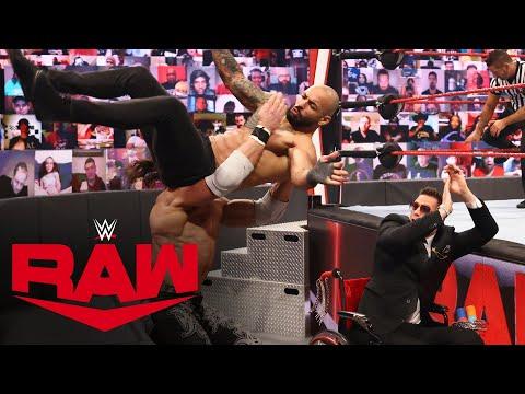 Ricochet vs. John Morrison – Falls Count Anywhere Match: Raw, July 12, 2021