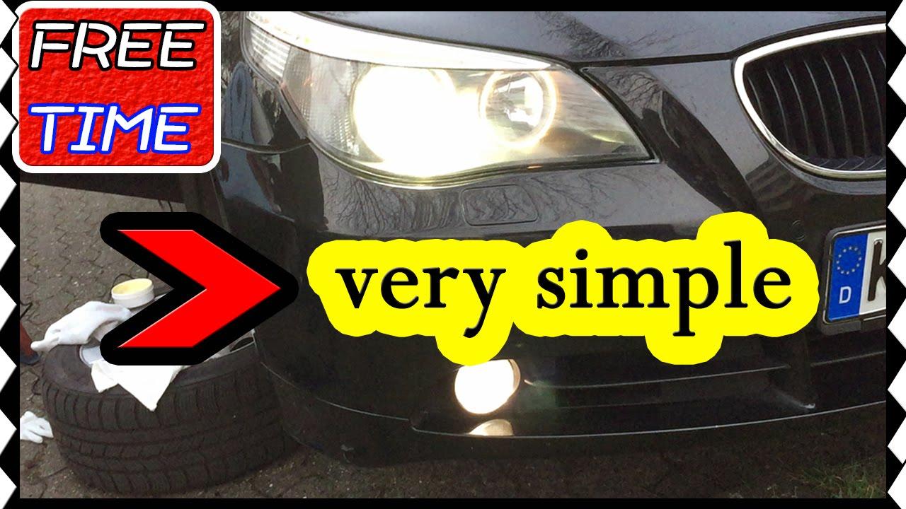 Nebelscheinwerfer Bmw E60, E61 weiß austauschen Replace a fog lamp ...